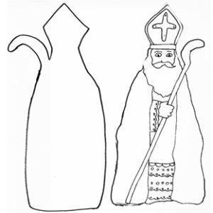 Imprimer le modèle de saint Nicolas en papier mâché