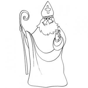 Coloriage de saint Nicolas : dessin 13