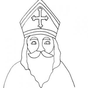 Coloriage de la tête de saint Nicolas