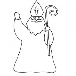 Coloriage du dessin 14 de saint Nicolas