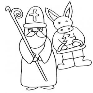 Saint Nicolas et son âne