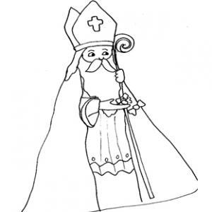 Coloriage de saint Nicolas 4