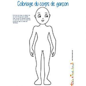 Coloriage du corps de garçon