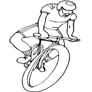 Coloriage sport : un cycliste