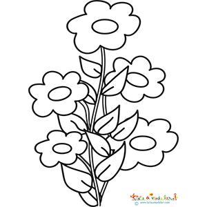 Coloriage des fleurs