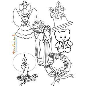 Un coloriage sur Noël à imprimer
