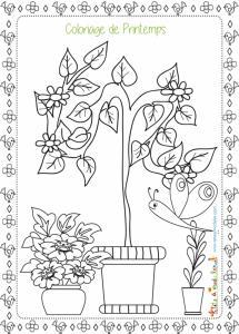 Coloriage De Printemps.Coloriages De Printemps