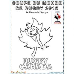 Feuille d'érable symbole de l'équipe de rugby du Canada