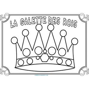 Galette des rois à colorier