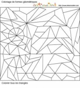 Jeu de coloriage numéroté : triangles en hiver n°1
