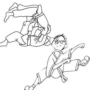 Coloriage Judo