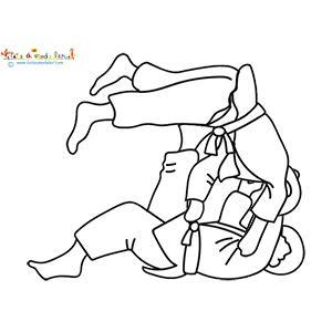 Un coloriage sur le Judo