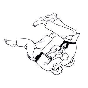 Chute au judo coloriage