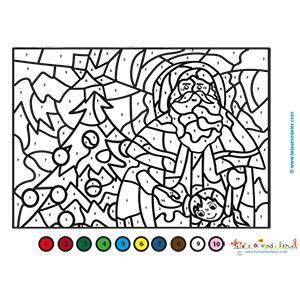 Coloriage de Noël magique à décoder