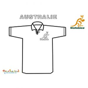 Maillot de rugby pour l'Australie