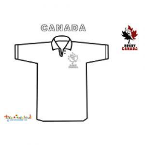 Maillot de rugby du Canada à colorier