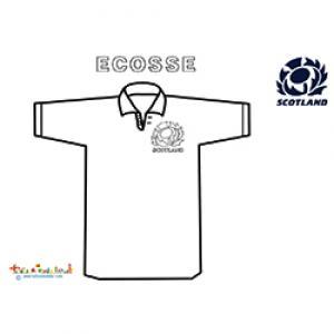 Maillot de rugby d'Ecosse  à colorier