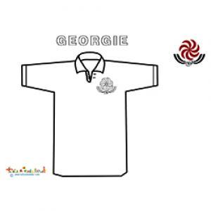 maillot de rugby de Géorgie