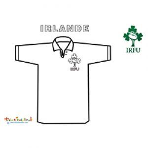 Coloriage du maillot de rugby d'Irlande