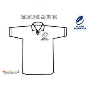 Coloriage du maillor de rugby de Roumanie
