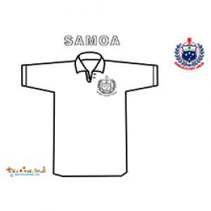 Maillot de rugby de Samoa à colorier