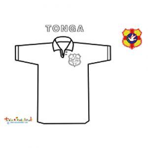 Coloriage du maillot de l'équipe de rugby des iles Tonga