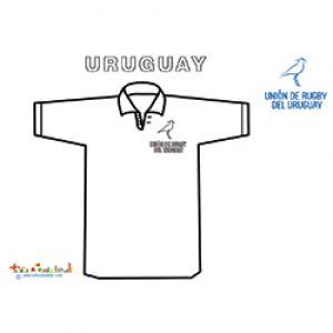 Maillot de rugby de l'Uruguay à colorier