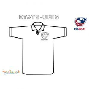 Coloriage du maillot de rugby des USA