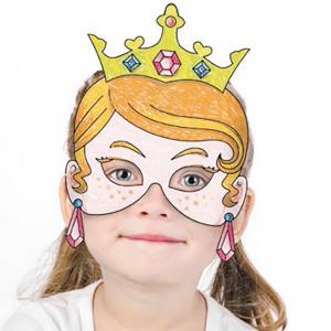 Coloriage d'un masque de princesse