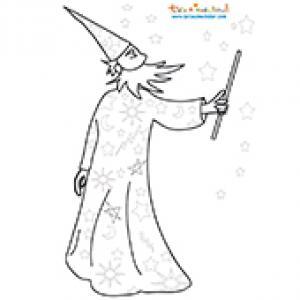 Coloriage de Merlin