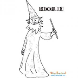 Dessin de Merlin à colorier