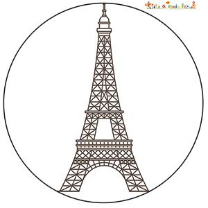 Coloriage Tour Eiffel Paris