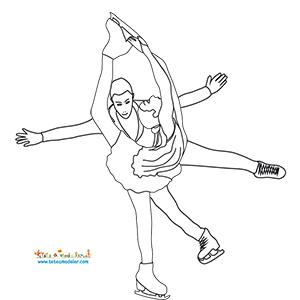 Coloriage de patinage danse