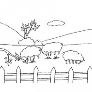 Coloriages et dessins de paysages