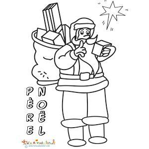 Père Noël portant un sac plein de cadeaux