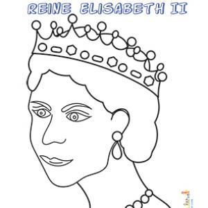 Reine Elisabeth 2, coloriage à imprimer