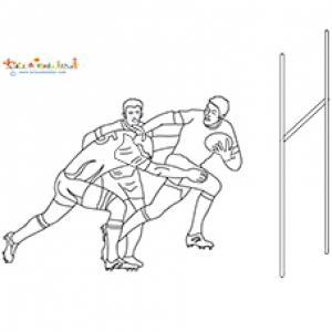 Rugby : coloriage joueurs de la coupe du monde