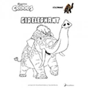 Coloriage Girelephant - Les Croods