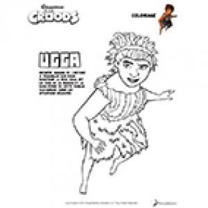 Coloriage Ugga - Les Croods