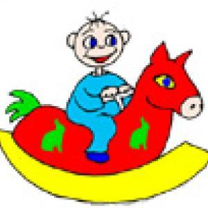 Une petite comptine à chanter quand bêtete; est sur le cheval à bascule