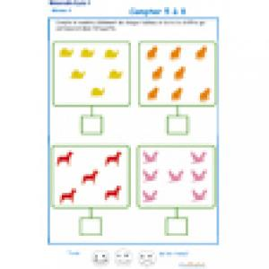 exercice 1 pour apprendre à compter les choses sur un tableau GS