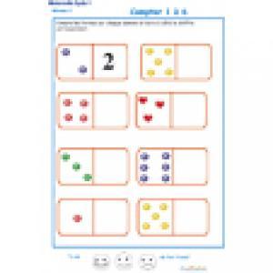 exercice 3 sur les dominos. Maternelle GS