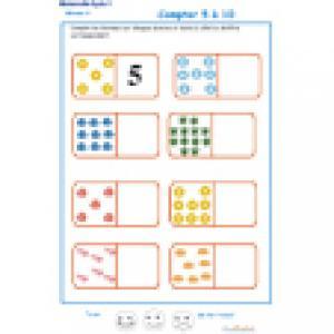 exercice 4 sur les dominos. Maternelle GS