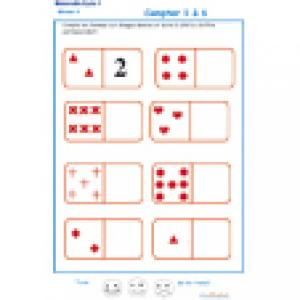 exercice 1 sur les dominos. Maternelle GS