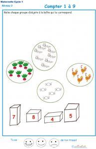 Imprimer la fiche pour compter les objets Exercice 2 GS niveau 3