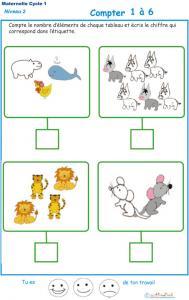 Imprimer l' Exercice 8 de l'ardoise pour apprendre à compter les baleines, les ânes , les lions et les souris