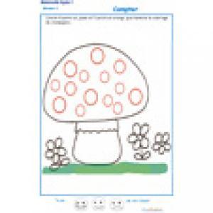 exercice 1 : compter et colorier les points MS
