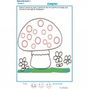 'exercice n°3 : compter et colorier les points MS