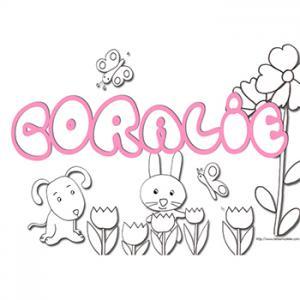 coloriage prénom Coralie