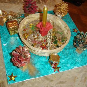 Créer une corbeille de Noël